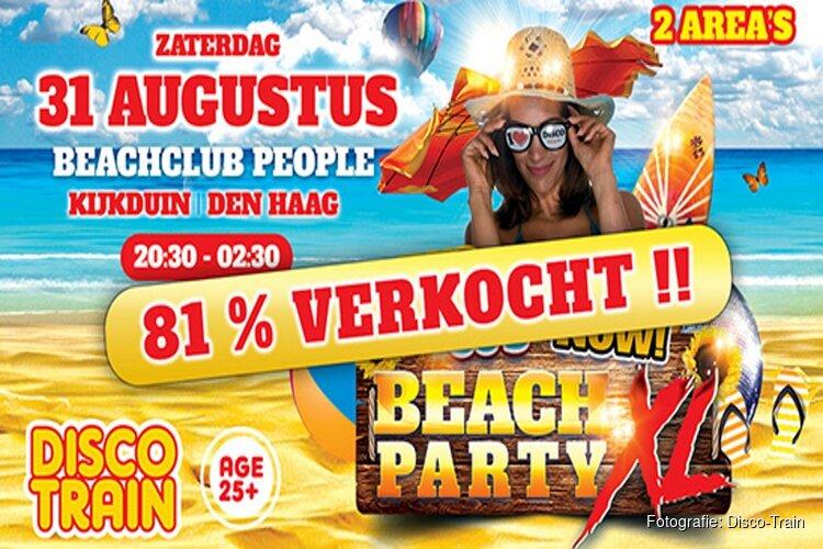 Disco-Train Beach Party XL bij Beach Club People in Kijkduin