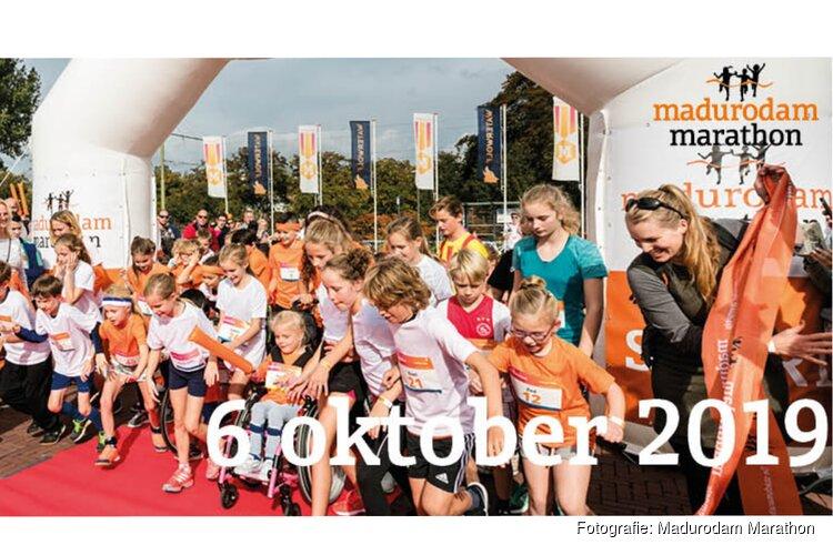 Kinderen klaar voor de start van Madurodam Marathon op 6 oktober