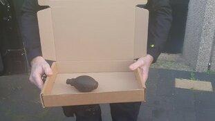Verdacht pakketje hoofdbureau politie blijkt handgranaat uit WO II