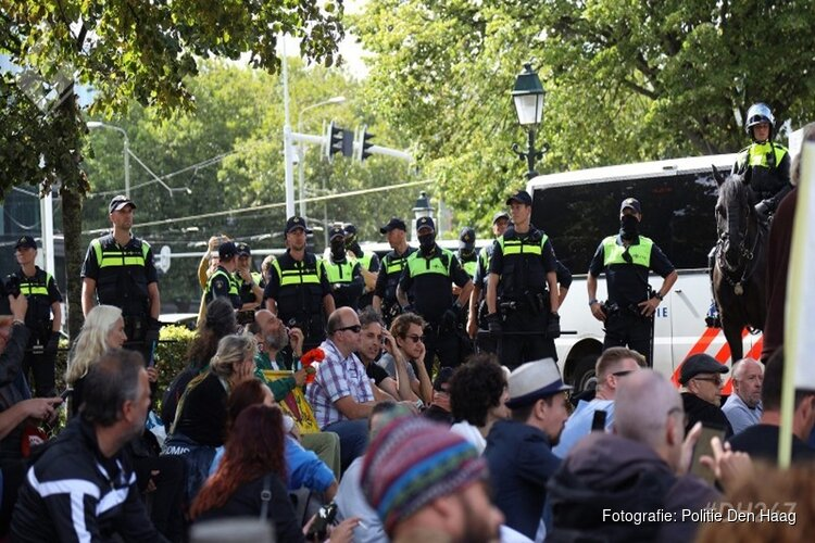 Acht aanhoudingen na demonstratie
